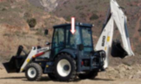 Стекло кузовное заднее на экскаватор-погрузчик TEREX 820/860 | Стекло Terex,стекло Терекс, Каталог TEREX6099910М1 |6099911М1