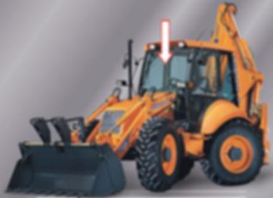 Стекло для экскаватора-погрузчика FIAT-HITACHI FB 100-2/200-2 | Стекло лобовое верхнее | Стекло лобовое | FIAT-HITACHI | FIAT | HITACHI | Фиат-Хитачи | Фиат | Хитачи