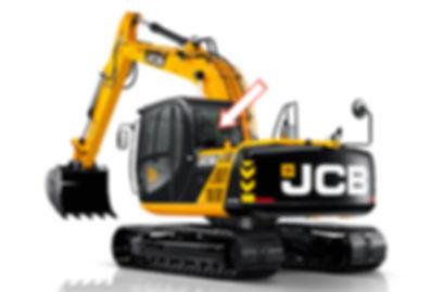 Стекло для гусеничных экскаваторов JCB JS 160 | Стекло для гусеничных экскаваторов JCB JS 180 | Стекло для гусеничных экскаваторов JCB JS 200 | Стекло для гусеничных экскаваторов JCB JS 220 | Стекло для гусеничных экскаваторов JCB JS 300 | Стекло заднее | Заднее стекло | JCB | Джи Си Би