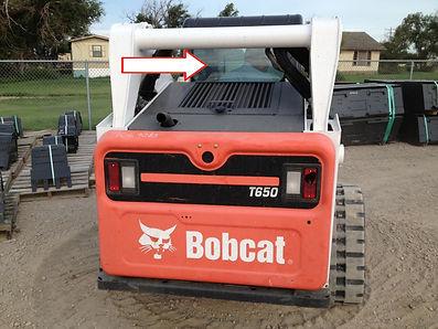 Стекло для экскаватора мини-погрузчика Bobcat T 650 | Стекло для экскаватора мини-погрузчика Bobcat T 650H | Стекло для экскаватора мини-погрузчика Bobcat T 770 | заднее | 7120401 Бобкет | Бобкэт |