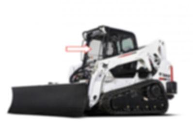 Стекло для экскаватора мини-погрузчика Bobcat T 650 | Стекло для экскаватора мини-погрузчика Bobcat T 650H | Стекло для экскаватора мини-погрузчика Bobcat T 770 | лобовое | 7120401 Бобкет | Бобкэт |