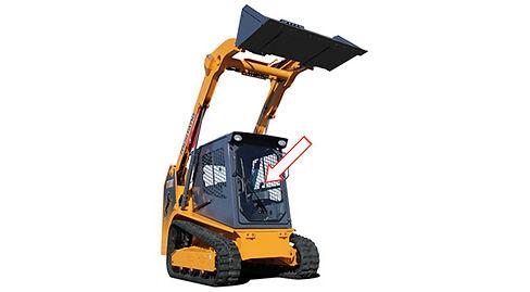 Стекло для мини-погрузчиков MUSTANG 1750RT/2100RT | Стекло лобовое | Лобовое стекло | Mustang | Мустанг