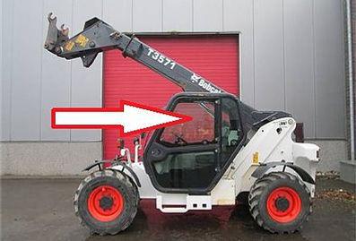 Стекло для экскаватора мини-погрузчика Bobcat T 3571 | Стекло для экскаватора мини-погрузчика Bobcat T 3571L | левое верхнее | 7120401 Бобкет | Бобкэт |