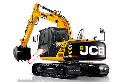 Стекло для гусеничных экскаваторов JCB JS 160 | Стекло для гусеничных экскаваторов JCB JS 180 | Стекло для гусеничных экскаваторов JCB JS 200 | Стекло для гусеничных экскаваторов JCB JS 220 | Стекло для гусеничных экскаваторов JCB JS 300 | Стекло дверное левое нижнее | Стекло дверное левое | Стекло дверное | JCB | Джи Си Би