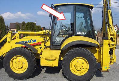 Стекло для экскаваторов-погрузчиков  KOMATSU WB93R-2 | Стекло для экскаваторов-погрузчиков  KOMATSU WB97R-2 | Стекло для экскаваторов-погрузчиков  KOMATSU WB93S-2 | Стекло для экскаваторов-погрузчиков  KOMATSU WB97S-2 | Стекло дверное левое | Стекло дверное | 312605731 KOMATSU | KOMATSU | Комацу, Каталог 312605731
