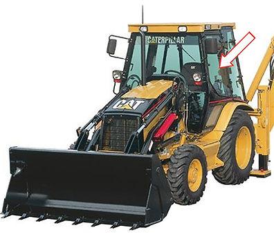 Стекло для экскаваторов-погрузчиков CATERPILLAR 428D | Стекло для экскаваторов-погрузчиков CATERPILLAR 432D | Стекло дверное верхнее левое | Стекло дверное верхнее правое | Стекло дверное верхнее | Стекло дверное | CATERPILLAR | CAT | Катерпиллер