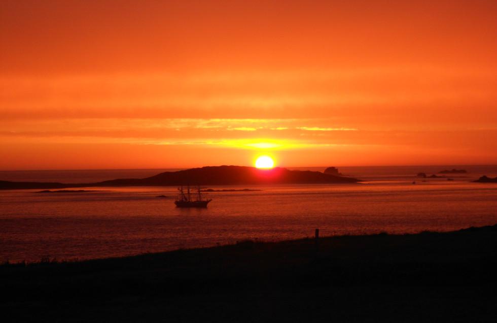 Sunset on St Mary's