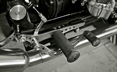 BMW stainless brake lever control and mount