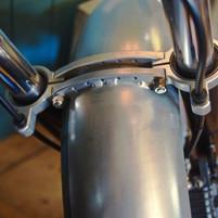 combined fork brace guard mount