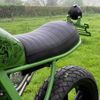 stitched leather seat