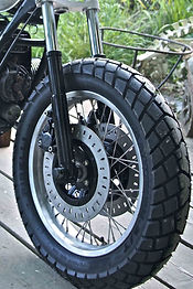 Custom wheel build flattracker bobber cafe racer