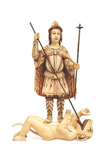 O Arcanjo São Miguel matando o Dragão