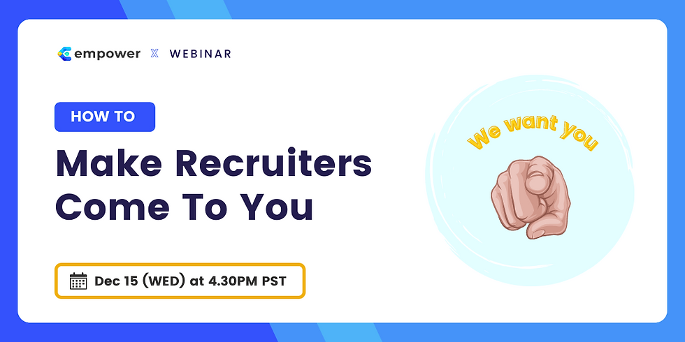 How To Make Recruiters Come To You