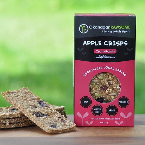 Cran-Raisin Apple Crisps (2 x 145g sealed bags)