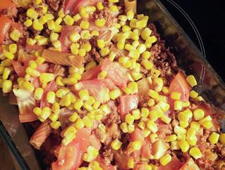 Vegetarisk tacogratäng