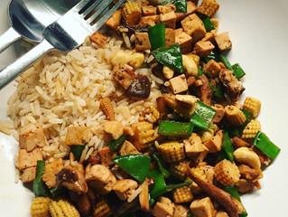 Tofuwok med ris