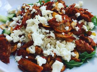 Fräsch vegansk sallad