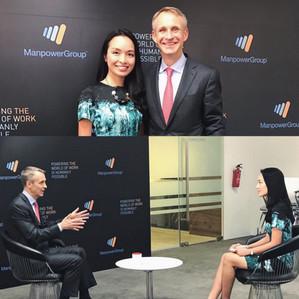 Interviewing Manpower Group's CEO Jonas Prising