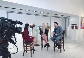Interviewing artists Gillie and Marc Schattner