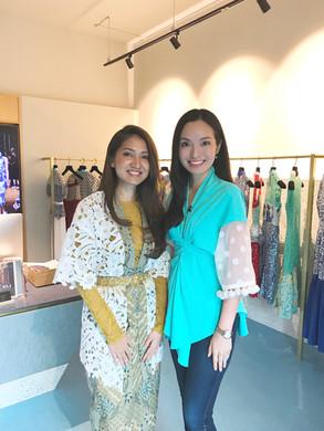 With fashion designer Priscilla Shunmugam