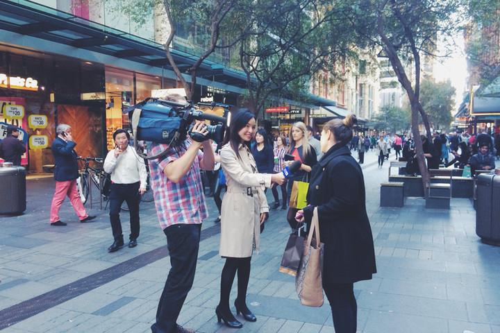 Vox pops for Nine News Australia