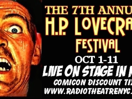 Welcome to October with 'The 7th Annual H.P. Lovecraft Festival'