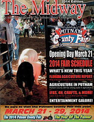 2014 The Midway Magazine annual publication of the Putnam county Fair in East Palatka, Putnam County, Florida, FL