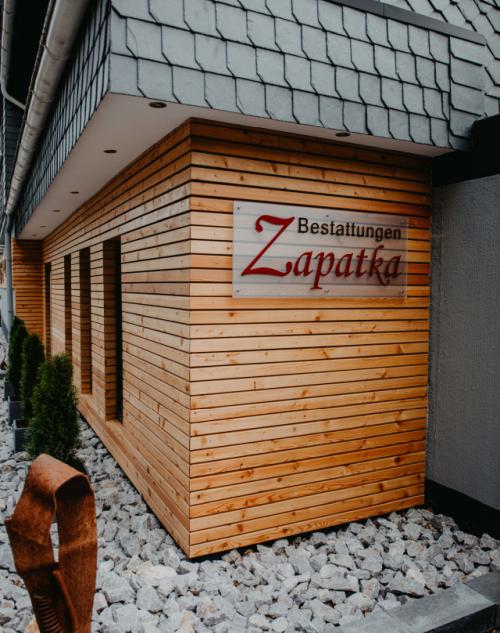 Fassade Bestattungen Zapatka