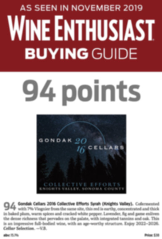 Gondak Cellars 2016 Collective Efforts L