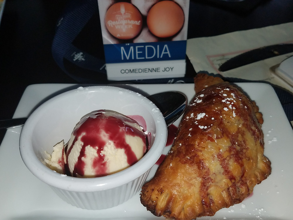 Vanilla Ice Cream & Apple Empanada