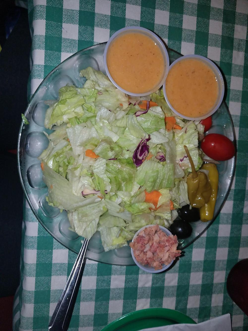Salad w/ house made Italian dressing