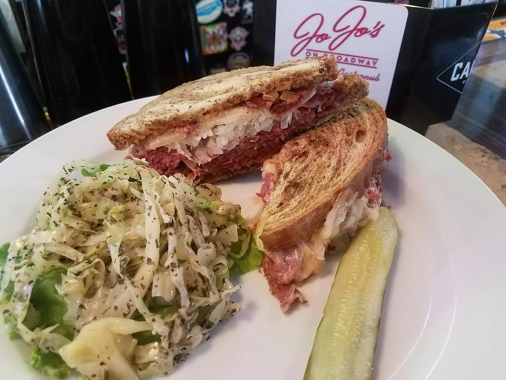 Reuben Sandwich & slaw