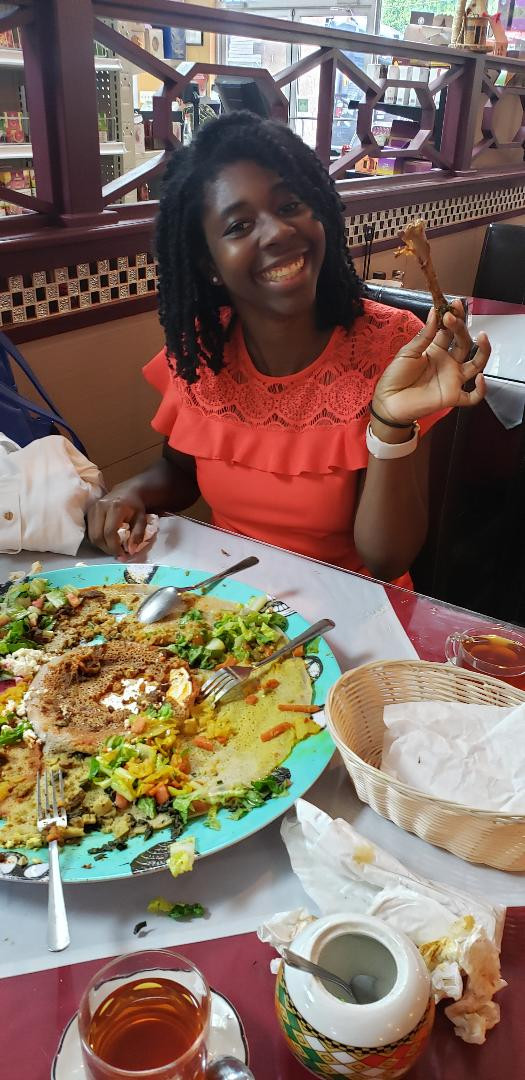 Clean bone and plate at Red Sea
