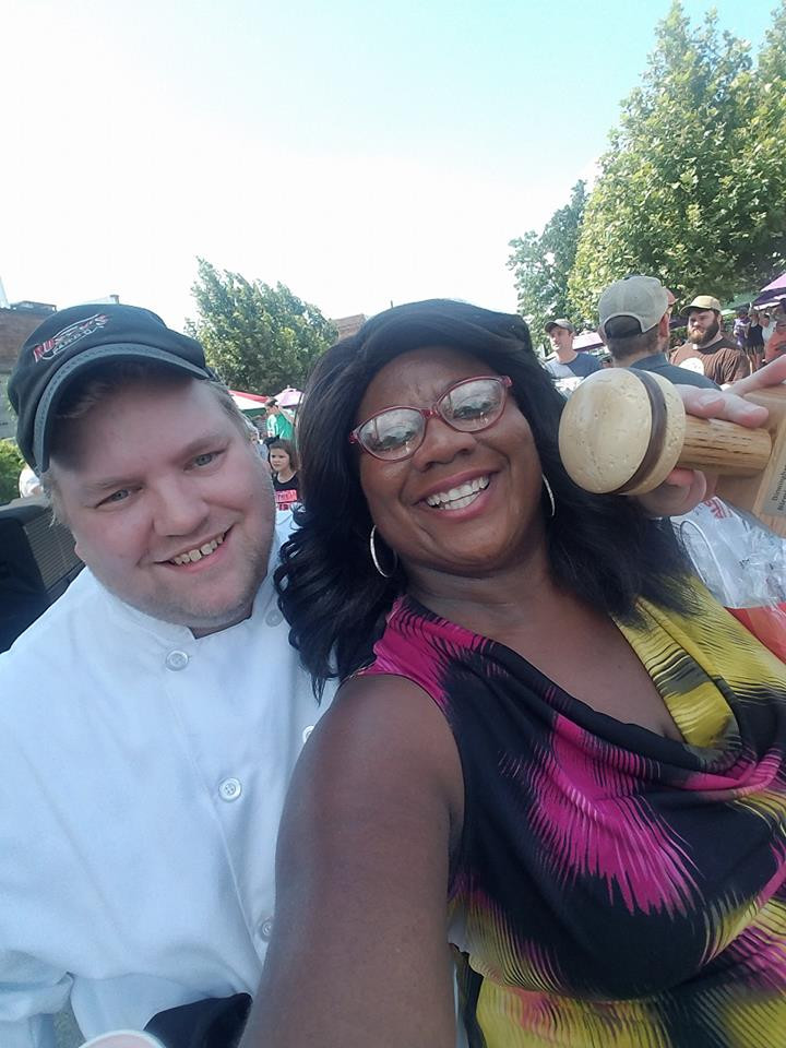 Me & Jonathan after winning the Bham Burger Bash