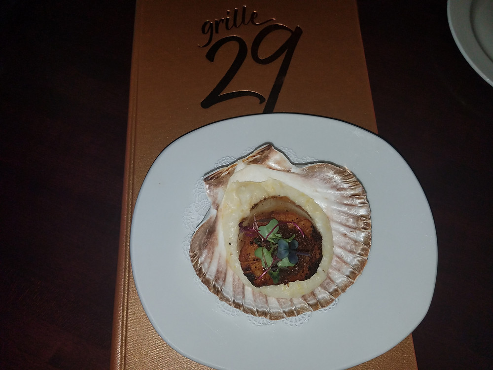 Scallop with bacon jam #Delish