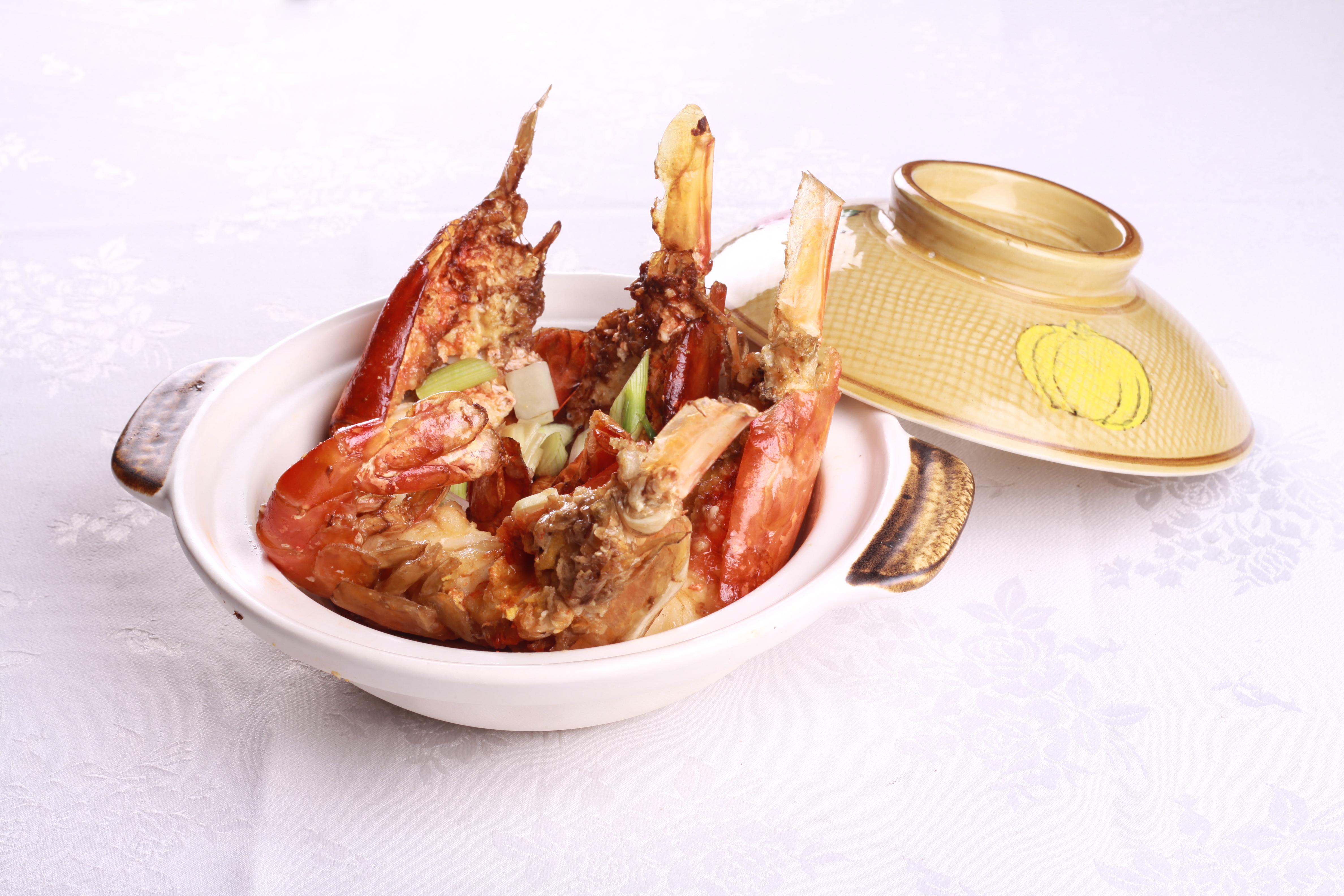 绍酒焗生虾