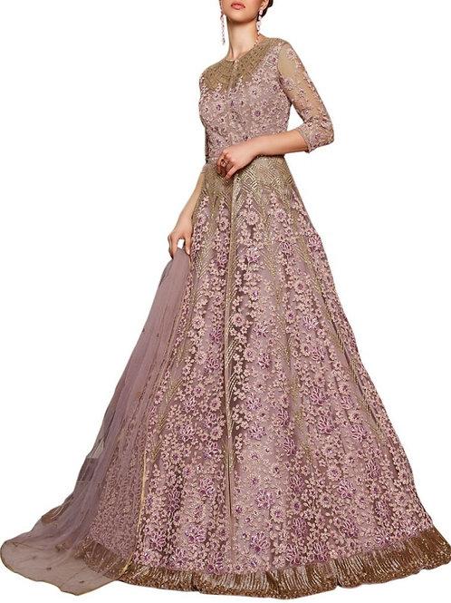 Pleasurable Rose Pink Party Wear Gown