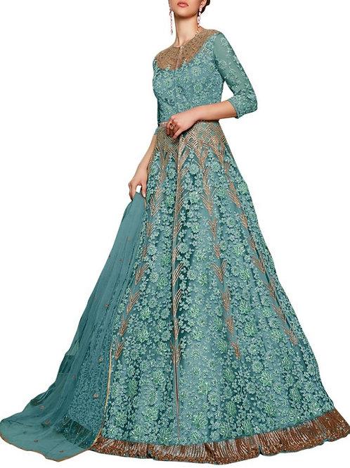 Pleasant Sky Blue Cocktail Gown