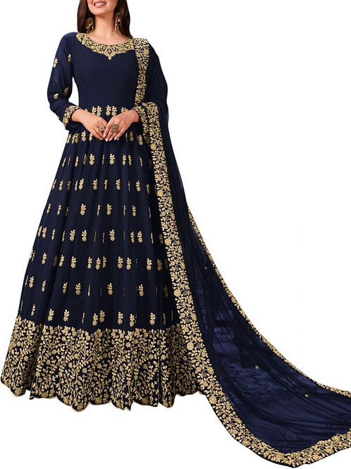 Glorious Navy Blue Formal Evening Gowns