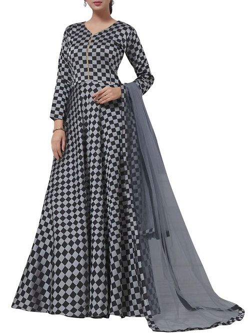 Fabulous Grey Color Formal Gown
