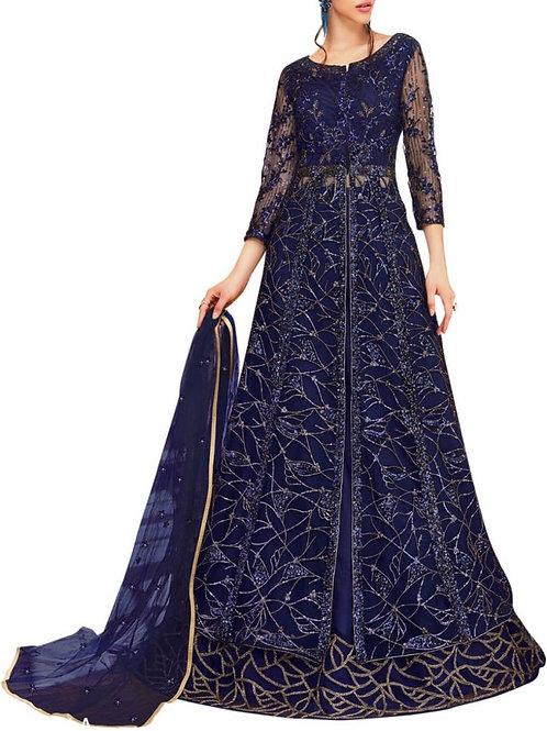 Smashing Blue Wedding Gowns
