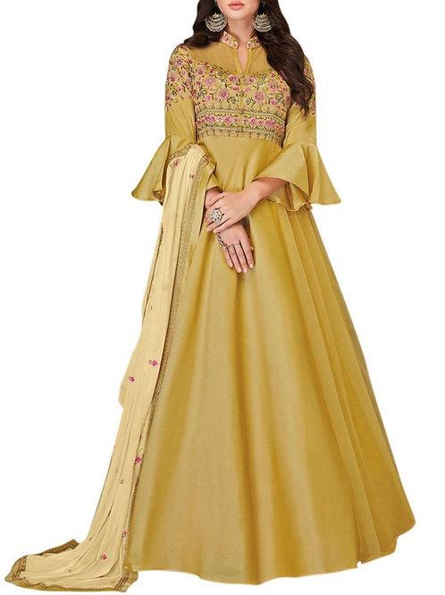 Dreamy Mustard Long Sleeve Gown