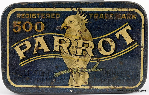 PARROT Gramophone Needle Tin **500 size**