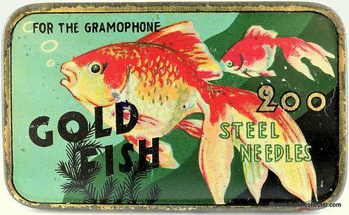 GOLD FISH Gramophone Needle Tin