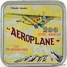 Aeroplane Gramophone Needle Tin