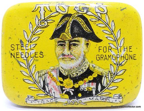 TOGO gramophone needle tin