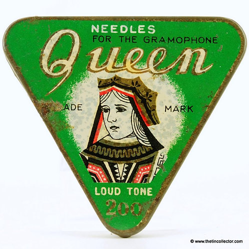QUEEN Gramophone Needle Tin
