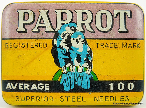 PARROT Gramophone Needle Tin - 100 size