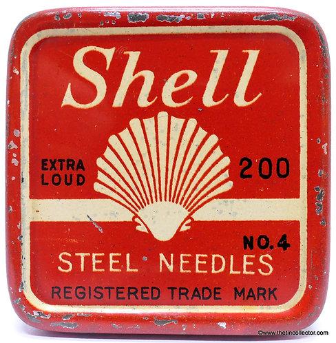 SHELL Gramophone Needle Tin