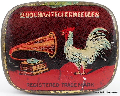CHANTECLER Gramophone Needle Tin